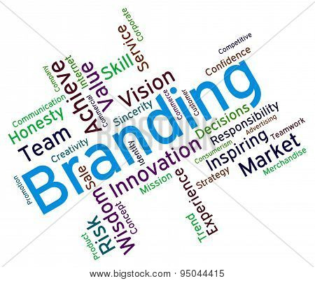 Branding Words Means Company Identity And Branded