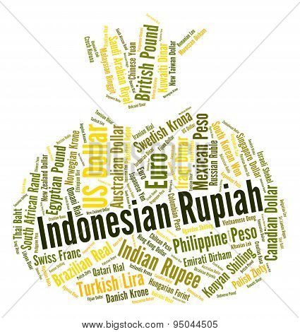 Indonesian Rupiah Represents Foreign Currency And Coin