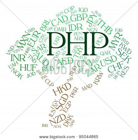 Php Currency Shows Worldwide Trading And Currencies