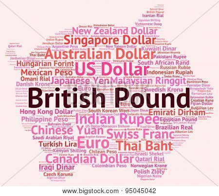 British Pound Shows Currency Exchange And Broker