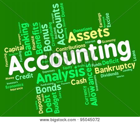 Accounting Words Represents Balancing The Books And Accountant