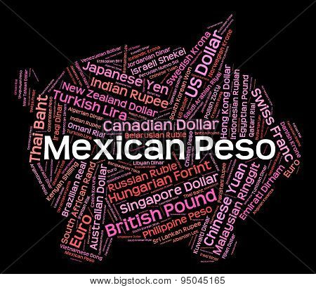 Mexican Peso Represents Foreign Exchange And Coin