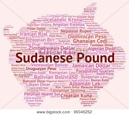 Sudanese Pound Indicates Worldwide Trading And Broker