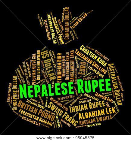 Nepalese Rupee Indicates Foreign Currency And Broker