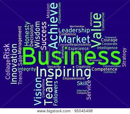 Business Words Represents E-commerce Wordcloud And Businesses