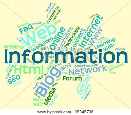 Information Word Indicates Knowledge Help And Wordcloud