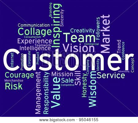 Customer Words Indicates Patronage Shoppers And Purchaser