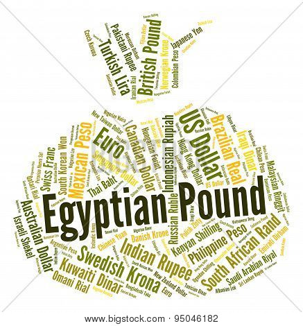 Egyptian Pound Means Currency Exchange And Coinage