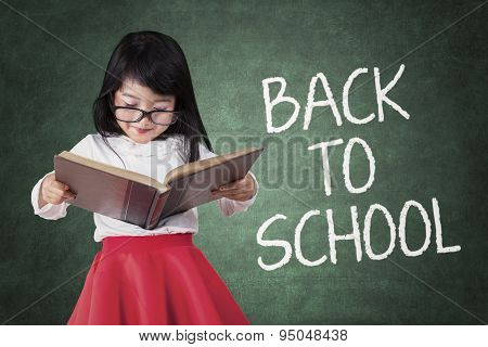 Girl Back To School And Read A Book