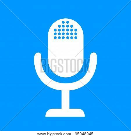 Microphone Web Icon, Flat Design