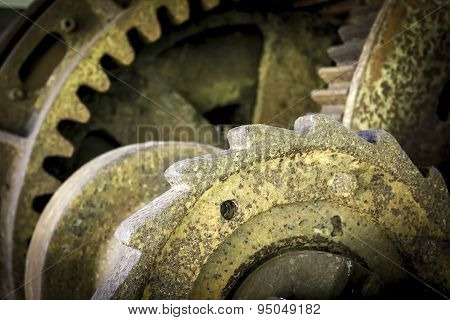 Artistic antique gears