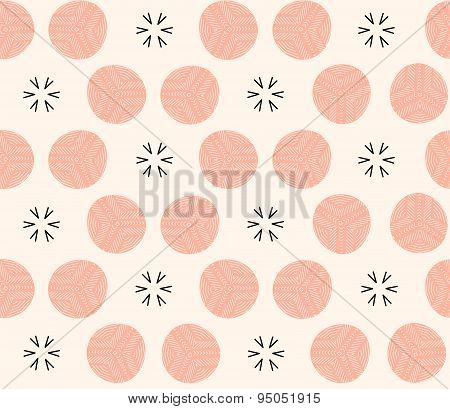 Aztec mosaic seamless geometric pattern in vector