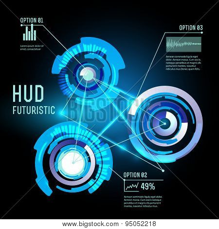 Futuristic interface, HUD,  imfographics ,vector