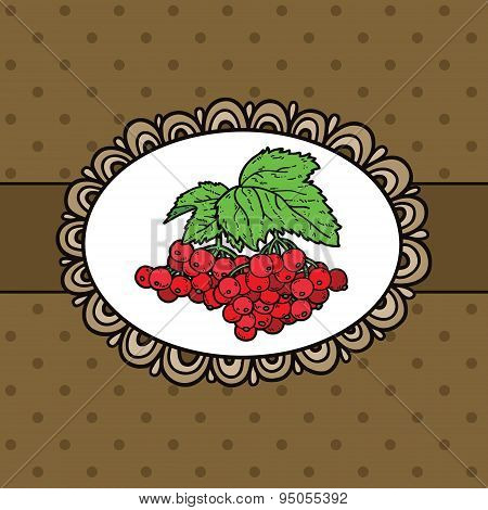 doodle frame and berries.