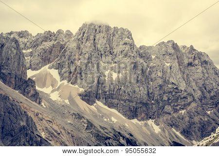 Dramatic mountain landscape.