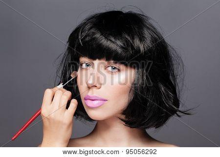 Makeup. Cosmetic. Perfect Make-up. Applying Make-up