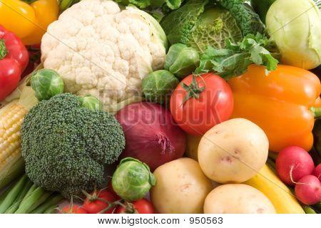 Постер, плакат: Овощи, холст на подрамнике