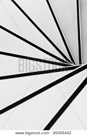 Spiral stairs in black and white