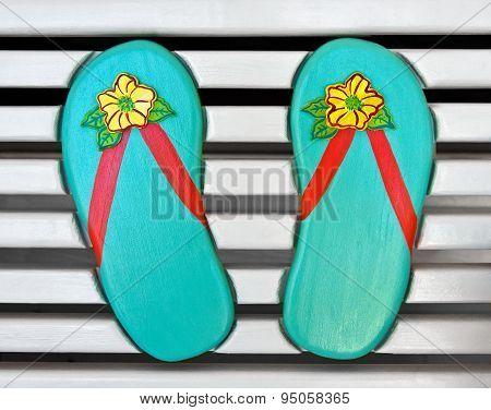 Wooden Flip Flops