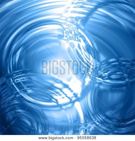 Water Background Concentric Ripple Wave Radial Rain Light