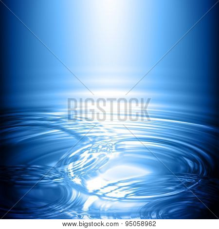 Water Concentric Ripple Wave Radial Rain Light Background