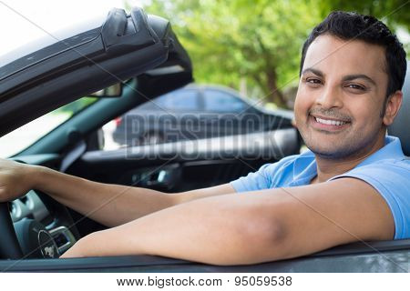 Chilled Out Guy Cruising In Car