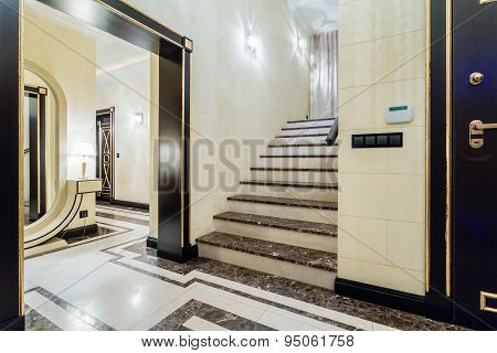 Luxury Staircase In Baroque House