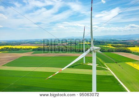 Windmills Aerial View