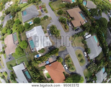Aerial View Of Homes In Florida