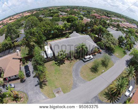 Residential Neoghborhood In Florida Aerial