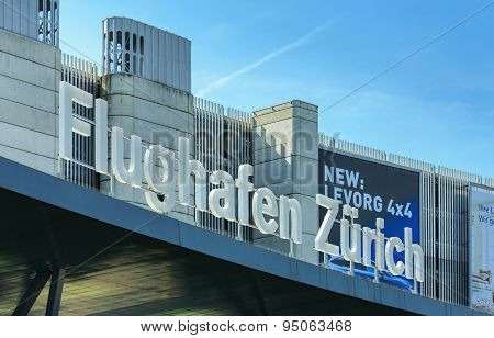 Upper Part Of The Zurich Airport Building