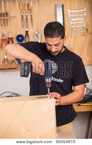 Finishing A Cajon Flamenco
