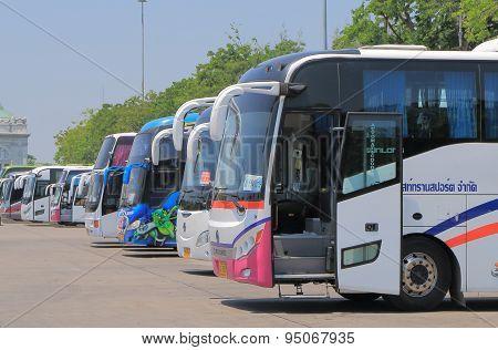 Tourist buses tourism Bangkok Thailand