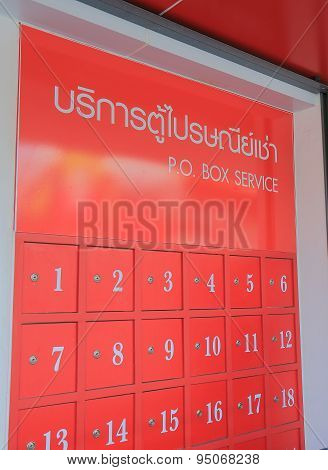 Thailand post box