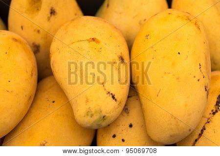 Ripened mango on street food