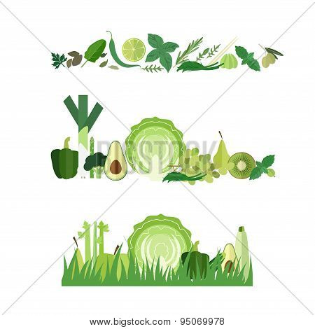 Banners green vegetables
