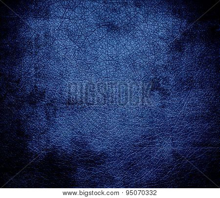 Grunge background of dazzled blue leather texture