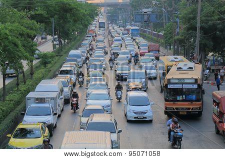 Traffic jam Bangkok Thailand