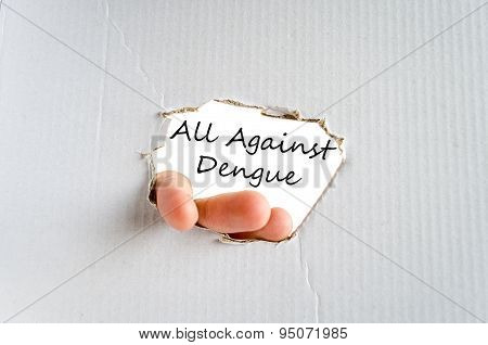 All Against Dengue Text Concept