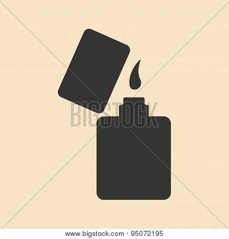 Flat in black and white mobile application lighter
