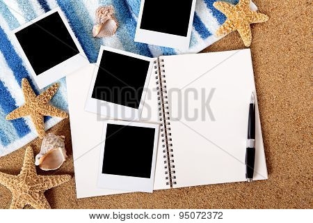 Beach Scene With Photo Album