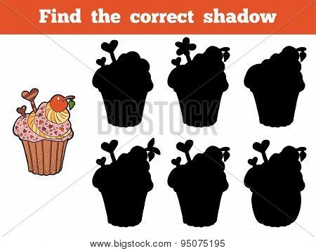 Find The Correct Shadow (cupcake)