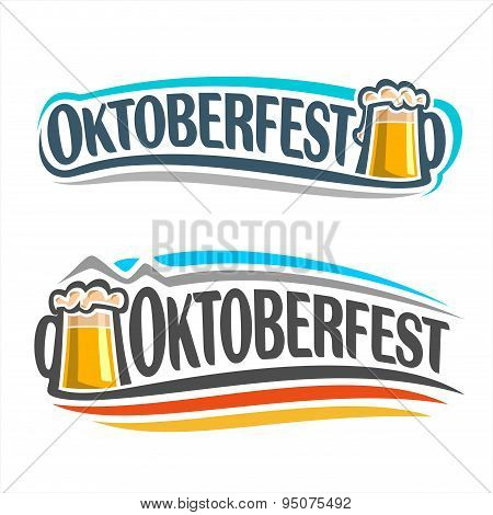 The logo on the theme of Oktoberfest
