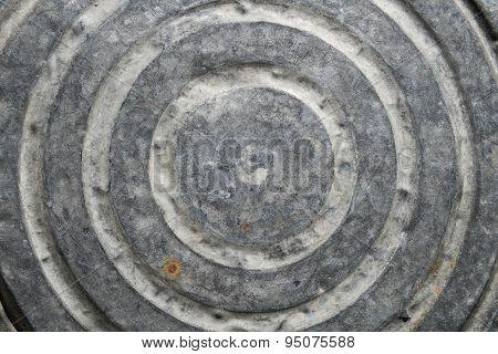 Bottom of zinc basin texture
