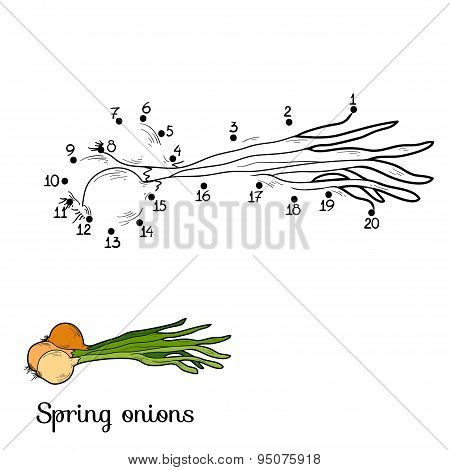 Numbers Game: Fruits And Vegetables (spring Onions)