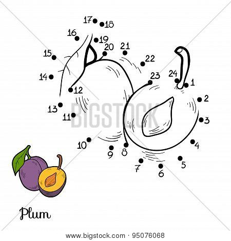 Numbers Game: Fruits And Vegetables (plum)