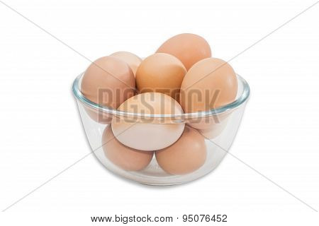 Glass Bowl With Eggs