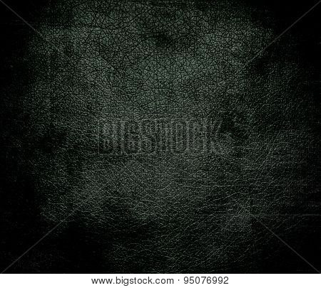 Grunge background of black leather jacket leather texture