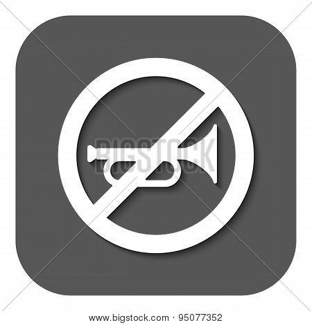 The Keep Quiet Icon. No Sound Symbol. Flat
