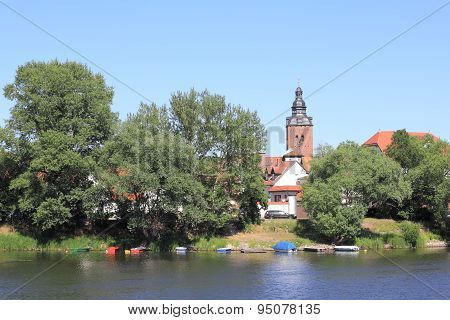 City-island In Havelberg With St. Lawrence's Church